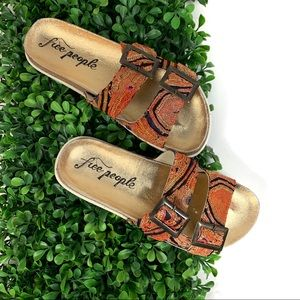 Free People Bali Footbed Flat Tapestry Sandals